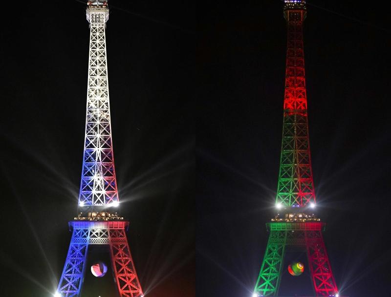 بألوان من ستلمع انوار برج إيفل مساء غدٍ؟ (أ ف ب)