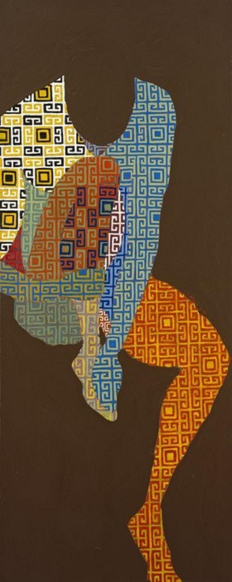 «بورتريه ذاتي» لنبيل موسى (زيت على كانفاس ــ 23.5 × 59.5 سنتم)