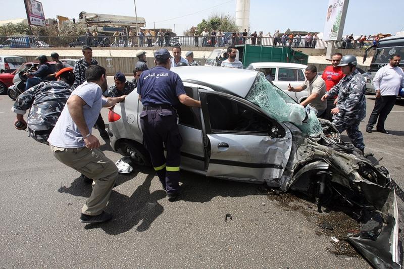 ارتفع معدل عدد القتلى الى عدد الحوادث من 0.13 قتيلا إلى 0.14 في عام 2015 (مروان طحطح)