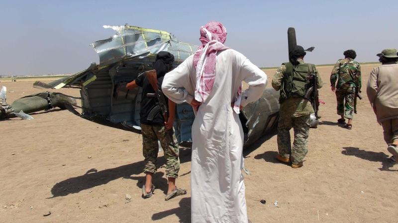 قتل 5 جنود روس في إسقاط مروحية في ريف إدلب (أ ف ب)