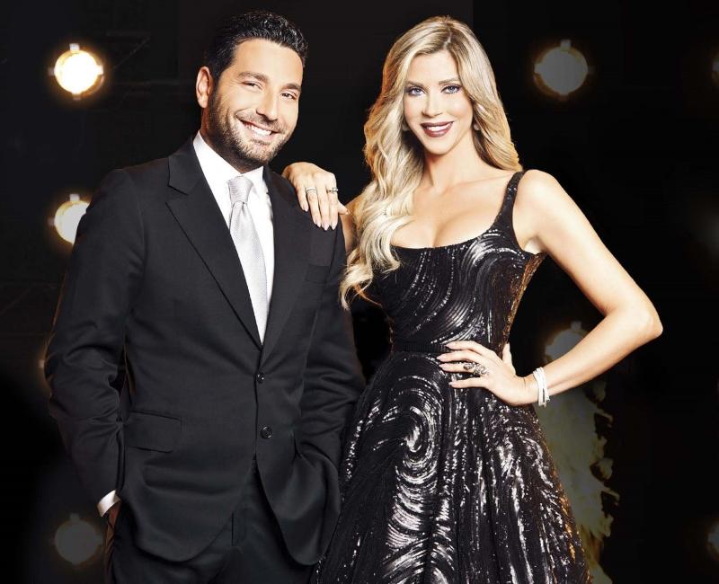 كارلا حدّاد ووسام بريدي، مقدّما برنامج «الرقص مع النجوم»