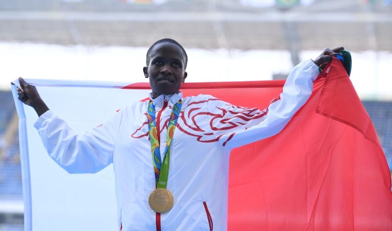 منحت البحرينية راث جيبيت أول ميدالية ذهببة للعرب (أ ف ب)