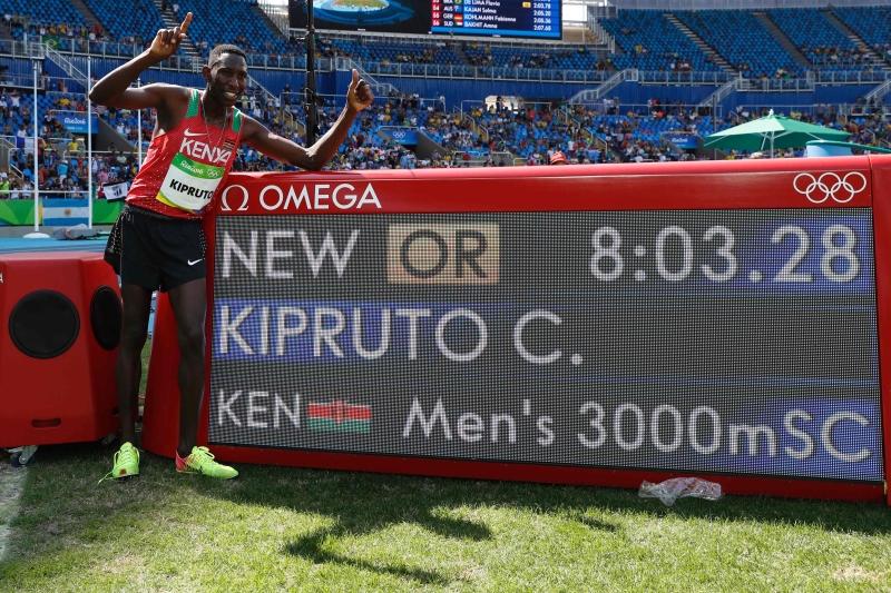 كسر الكيني كونسيسلوس كيبروتو الرقم القياسي الصامد منذ أولمبياد سيول عام 1988 (أ ف ب)