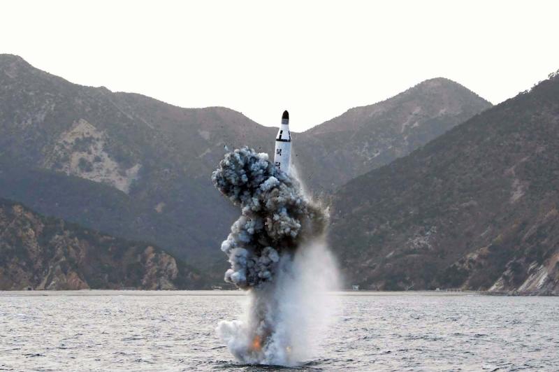 الرسالة الصاروخية جاءت ردّاً على المناورات الأميركية ــ الكورية الجنوبية (أ ف ب)