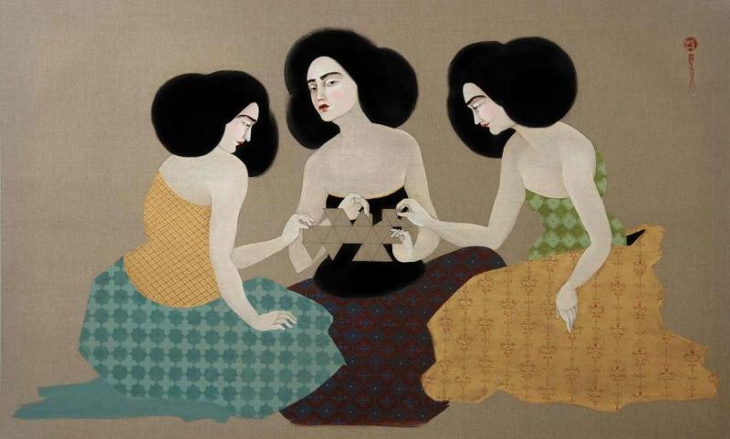 «ديماكسيون» للفنانة العراقية هيف كهرمان (زيت على كتان ــ  2012)