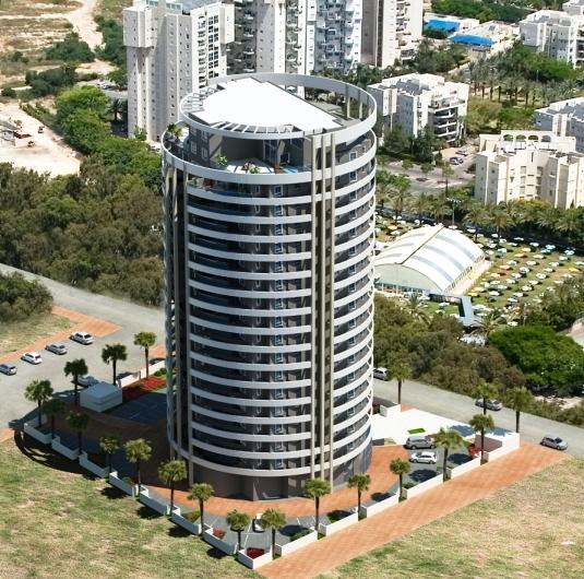 صورة افتراضية للمبنى الذي تكفلت بنسفه شركة إسرائيلية (عن الويب)