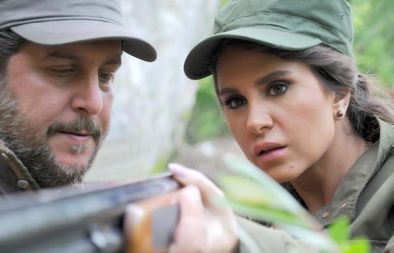ديمة قندلفت ومحمد قنوع في مشهد من «أيام لا تنسى»