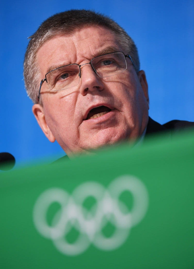 رئيس اللجنة الاولمبية الدولية باخ (أ ف ب)
