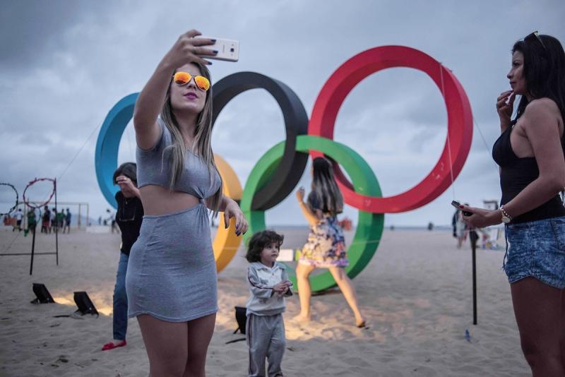 تستضيف البرازيل الالعاب الاولمبية الصيفية لاول مرة حتى ٢١ الحالي (أ ف ب)