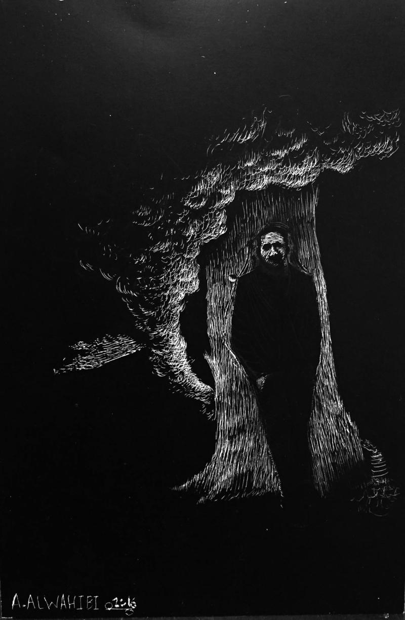 العمل للفنان الفلسطيني عمر الوهيبي