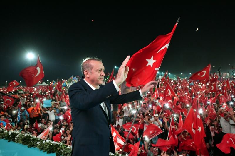الرئيس التركي: الأميركيون انتظروا 40 يوماً لزيارة حليفهم (الأناضول)
