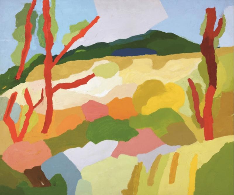 إيتل عدنان (زيت على كانفاس، 71× 99 سنتم، 2002)