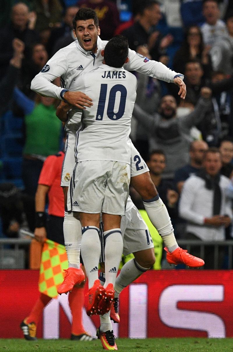 سجل ريال هدفي الفوز في الدقائق الأخيرة من المباراة (أ ف ب)