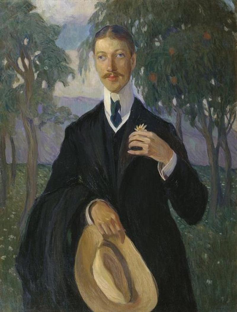 «بورتريه لنيكولاي غوميليوف» لأولغا ديلا- فوس- كاردوفسكايا (1909)