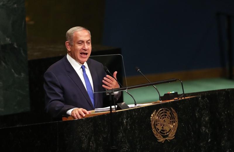 رأى نتنياهو أن «اتفاقات السلام مع مصر والأردن مرساة الاستقرار في الشرق الأوسط» (أ ف ب)