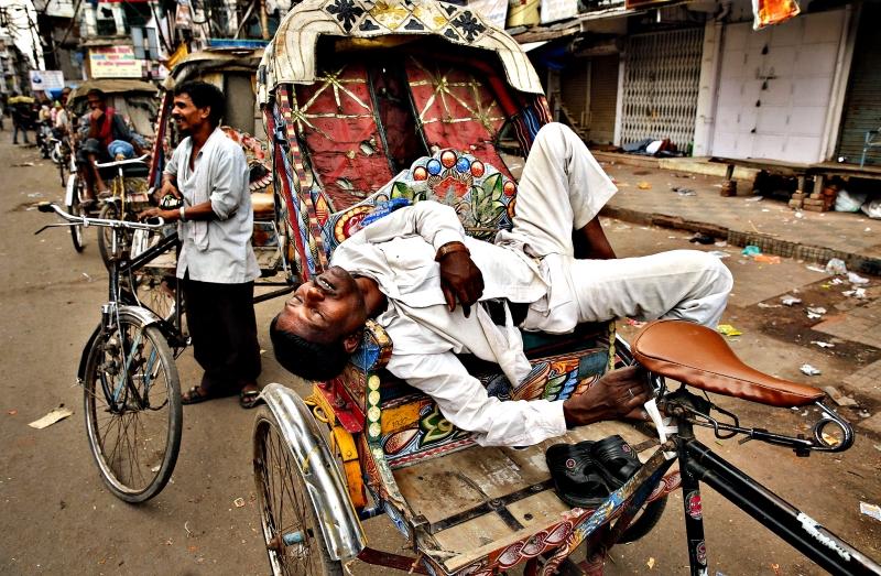 استراحة سائق في الهند
