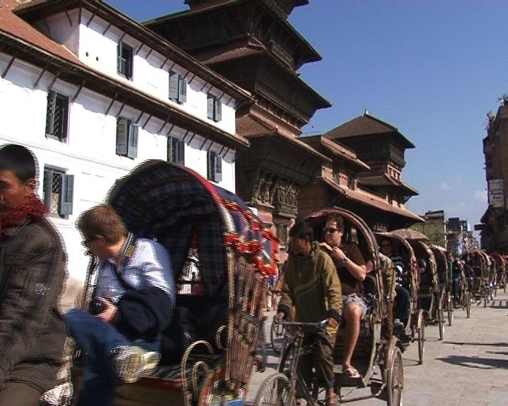 ريكشاو سياحي في النيبال