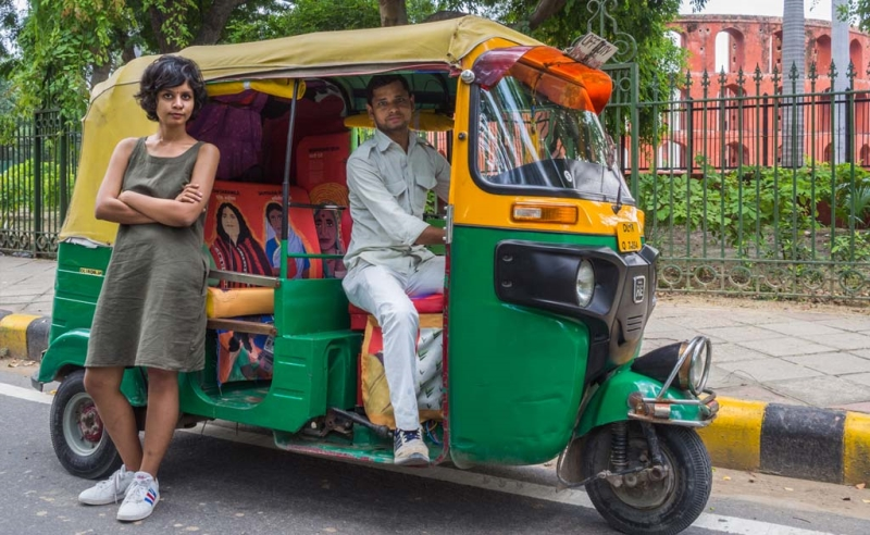 ريكشاو موتوسايكل في الهند