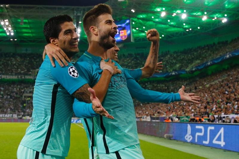 سجل جيرارد بيكيه هدف الفوز لبرشلونة (أ ف ب)