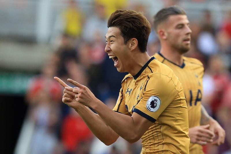 سجل هيونغ-مين سون 4 أهداف في 3 مباريات في الدوري الإنكليزي الممتاز (أ ف ب)