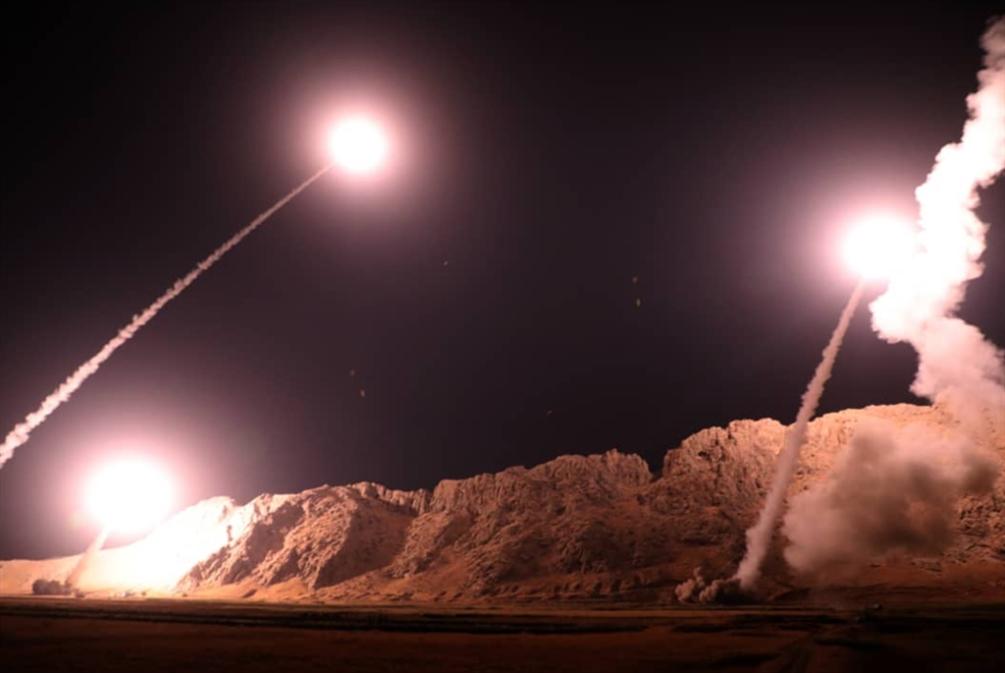 رسائل صاروخية إيرانية في دير الزور