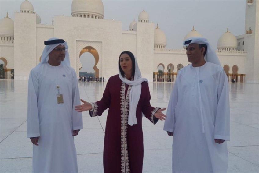 وزيرة الثقافة الإسرائيلية في مسجد الشيخ زايد