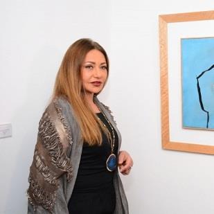 ليلى علوي في افتتاح معرض «وزير ثقافة مبارك»