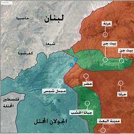 سقوط منطقة بيت جن: قرى جبل الشيخ بيد  دمشق