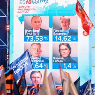 نتائج أوّلية: بوتين رئيساً لولاية رابعة