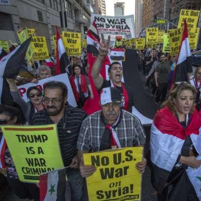 أميركيون ينددون: «لا للحرب على سوريا»
