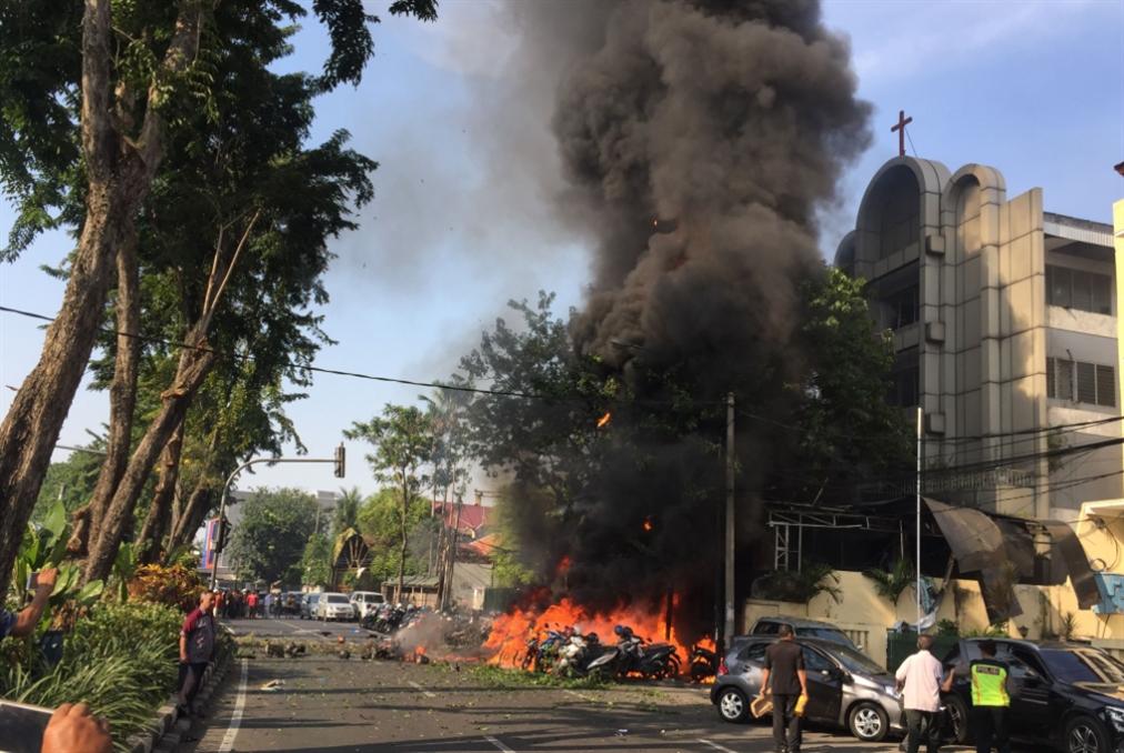 «أسرة من 5 أفراد» نفذت هجوم سورابايا الثاني