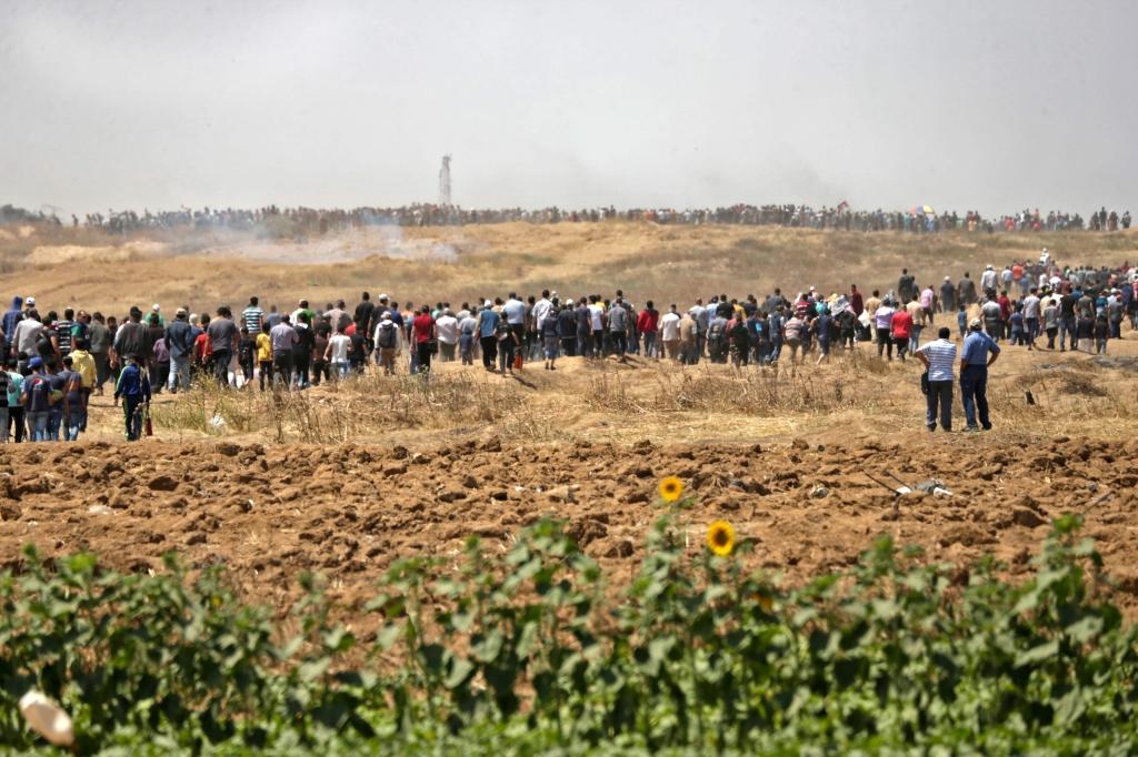 من المتوقع أن تبلغ اعداد المشاركين مئة ألف مشارك في غزة ( أ ف ب)