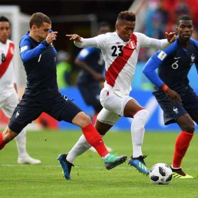 فرنسا x البيرو: 6 أرقام