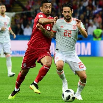 إسبانيا x إيران : 4 أرقام
