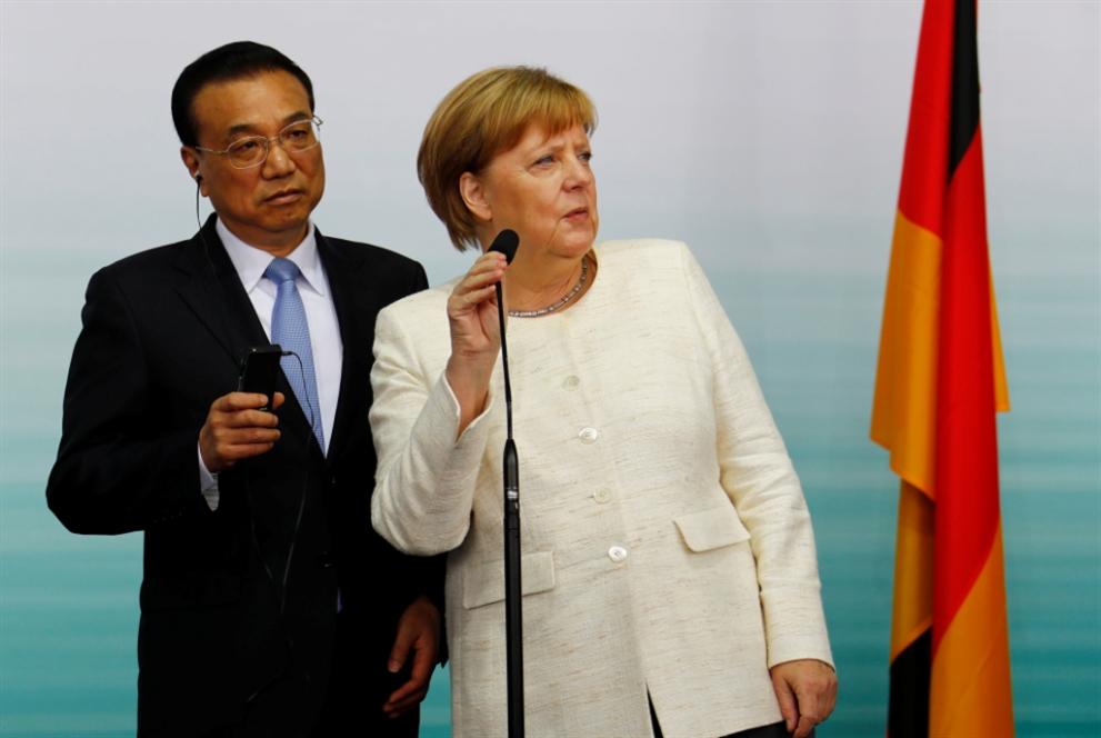 اللقاء الألماني الصيني ينتهي... بتقارب ضدّ «حمائية» ترامب