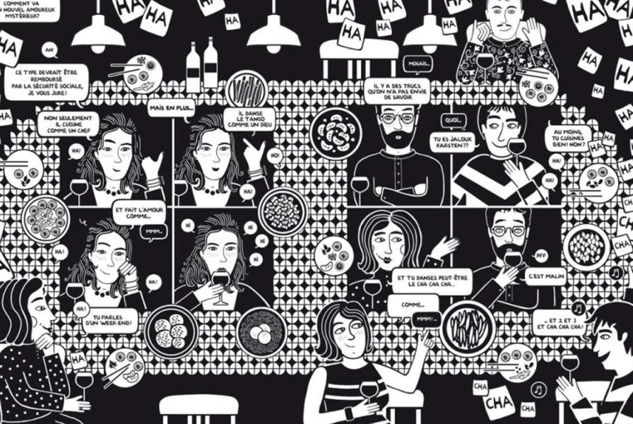 كتاب كوميكس يجمع زينة ابي راشد وماتياس إينار