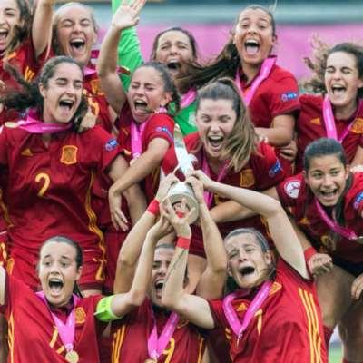 سيدات إسبانيا بطلات أوروبا