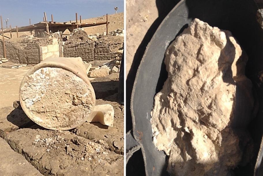 اكتشاف جبن في مدفن فرعوني