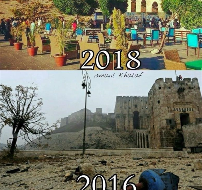 صورة قلعة حلب تسيّدت مواقع التواصل الإجتماعي اليوم