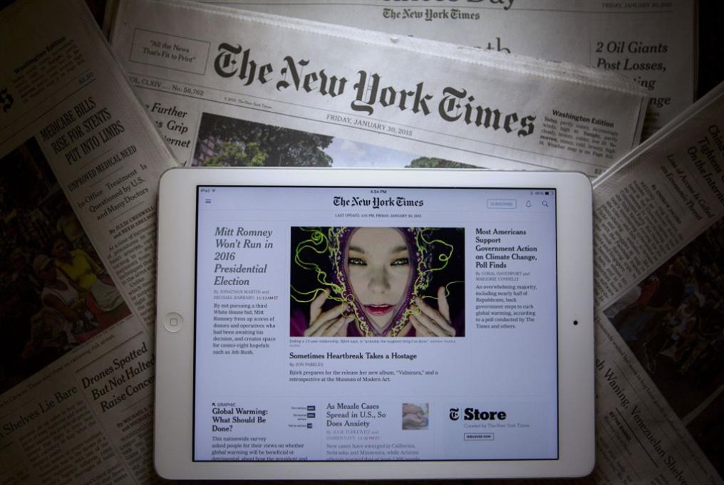 «نيويورك تايمز» تقترب من 4 ملايين مشترك رقمي