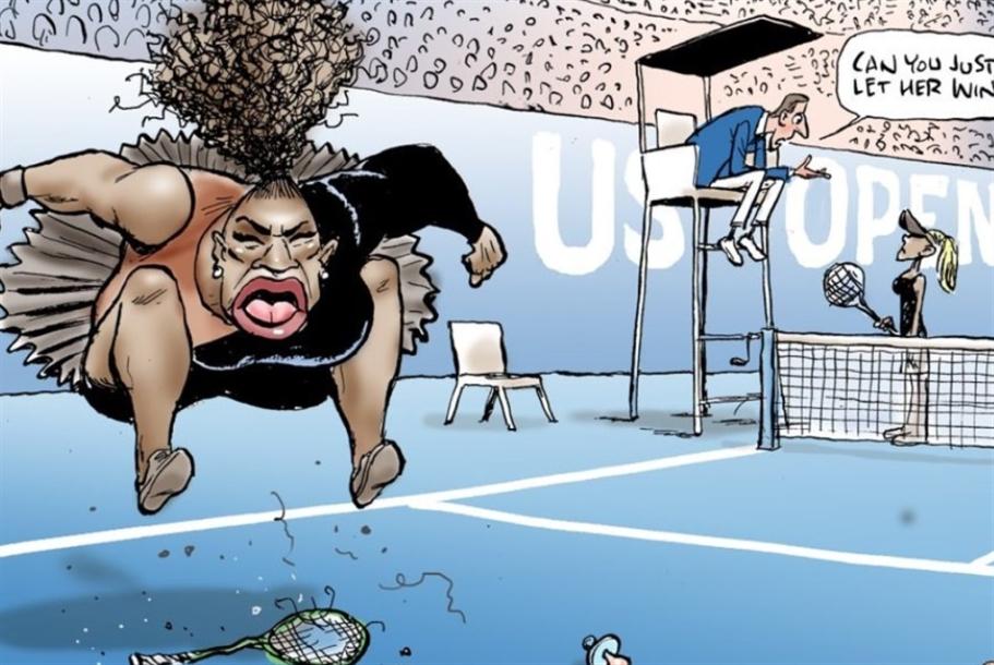 كاريكاتور عنصري بحقّ سيرينا وليامز