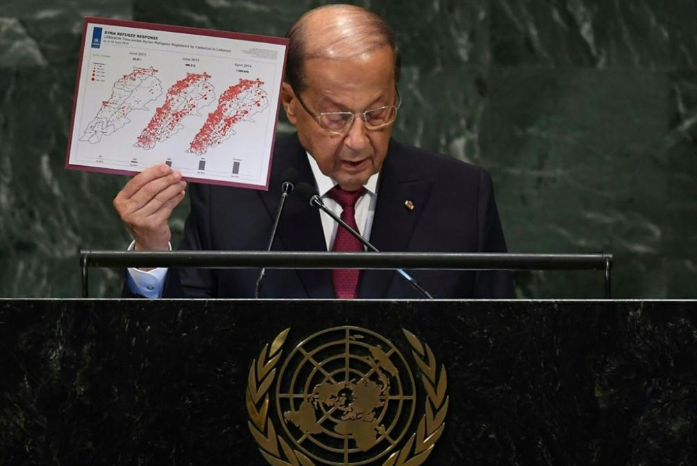 عون: لن نربط عودة النازحين بالحل السياسي