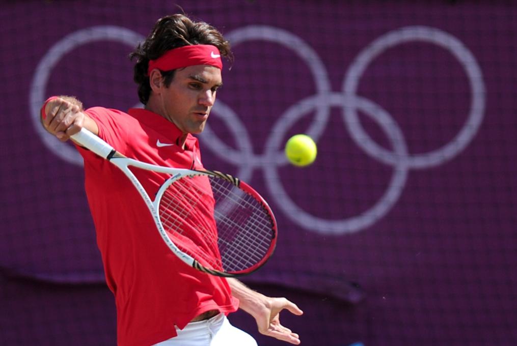 فيدرر حاضر في الألعاب الأولمبية