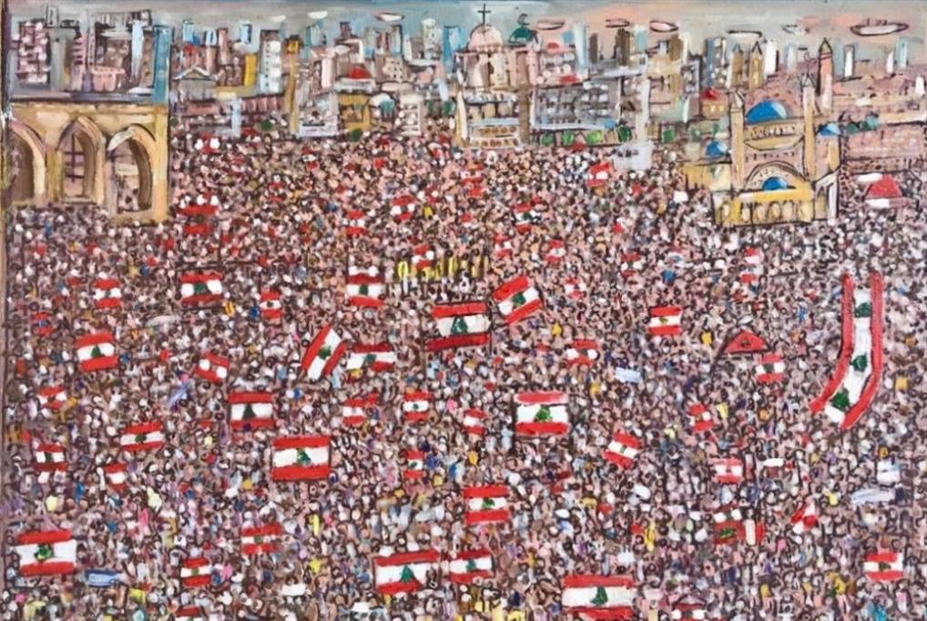 جميل ملاعب يرسم «ثورة لبنان»