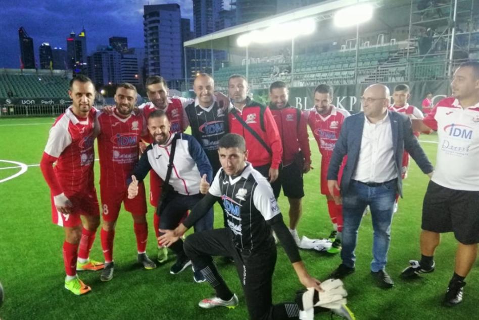 أول فوز دولي للبنان في الميني فوتبول