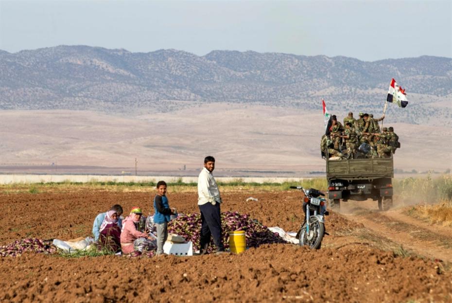 الجيش ينتشر على الحدود شرق القامشلي