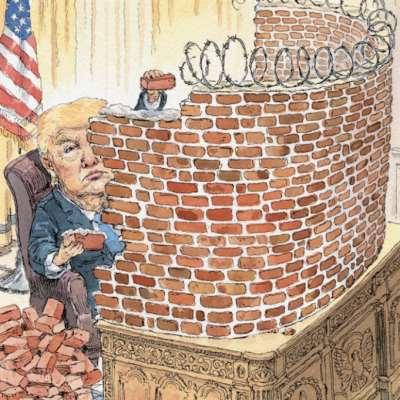 ترامب «مسوّراً» على غلاف «نيويوركر»