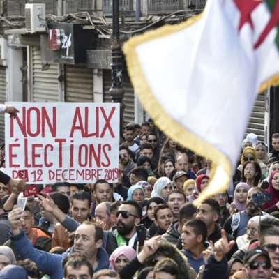 الجزائر: تظاهرات قبل يوم من الانتخابات الرئاسية