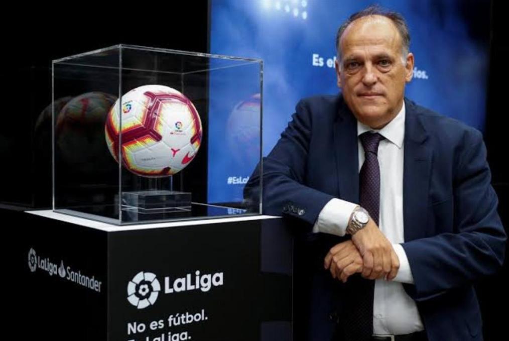 استقالة رئيس رابطة الدوري الإسباني
