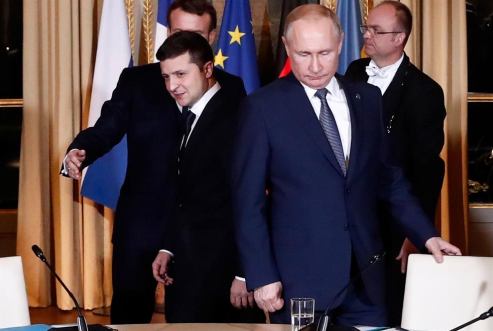 بوتين يلتقي زيلينسكي للمرة الأولى في باريس